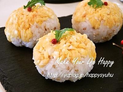 ほんのり甘い炒り卵&炒りゴマ☆手まり寿司