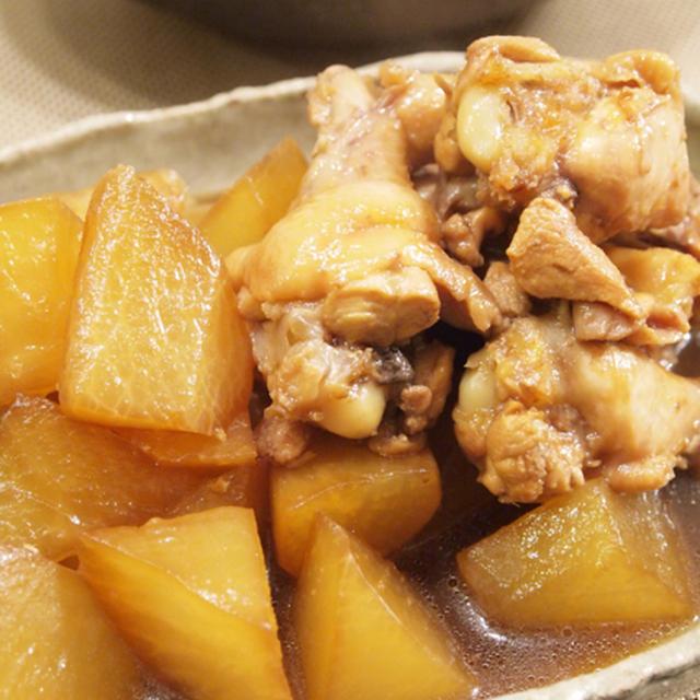 【和食】「手羽元で☆とろける鶏大根」&ポテトとコーンのホットサラダで晩ごはん。