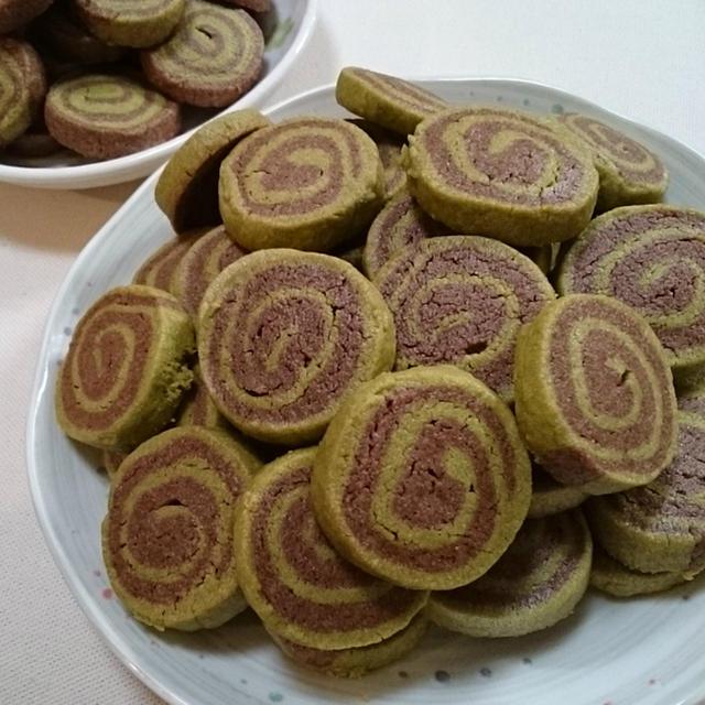 緑茶とココアのうずまきクッキー!【レシピ】