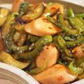 ■簡単!!5分【魚肉ソーセージと夏野菜のオイスターチリソース炒め】 by あきさん