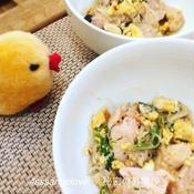 チキンのレモンペパーミックス卵とじ
