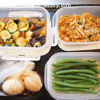 【だしまろ酢レシピあり】つくおき常備菜と今日のお弁当