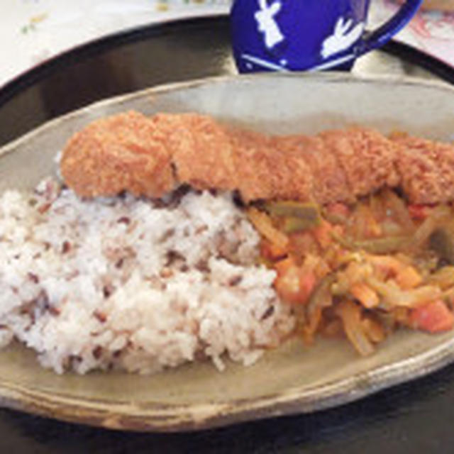 ◇肉巻高野豆腐の甘辛煮→野菜たっぷりお醤油カレー