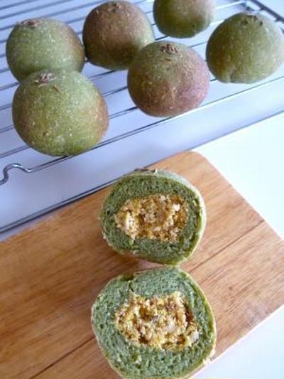 Kale Buns with Okara Filling