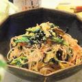 食べるラー油で野菜たっぷり!ピリ辛春雨サラダ♪