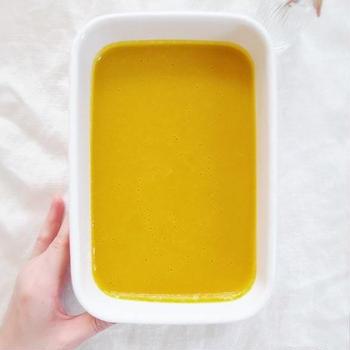 かぼちゃの冷製スープ 〜重ね煮と無添加調味料〜
