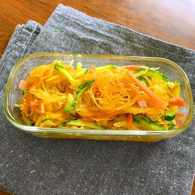 そうめんかぼちゃの中華サラダ
