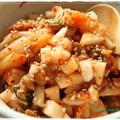 カブ入りキムチ納豆