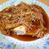 お豆腐ステーキ★えのきジンジャーソース