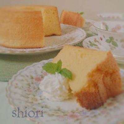 バニラシフォンケーキ&パパのお誕生日♪。