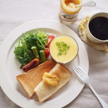 リリコイバターで朝ごはん。