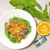 ミント香る ラム肉のタリアータと伊予柑のサラダ
