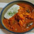 茄子と手羽元のトマトカレー