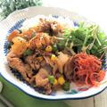 10分ほどで完成!春休みワンプレランチ 豚肉と新玉ねぎのチリケチャップ炒め丼