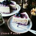 届きました~♪レアとベイクドどっちも♪ダブルブルーベリーチーズケーキ♪