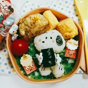 節分◆恵方巻きを食べるスヌーピー弁当