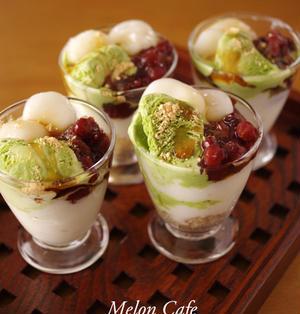 【レシピ】ふるふるミルクゼリーの和風パフェ☆Suipa.の容器モニター「コーラスグラス」&休日のお昼ごはん