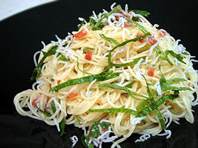 梅しらすの冷製スパゲティー