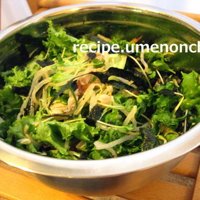 キムチ梅のチョレギサラダ*・゜゚・*:.。..。.:*・゜