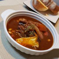 牛バラブロックとお豆のデミグラスープ