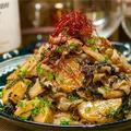 【レシピ】大葉でさっぱり♬長芋と豚肉の甘酢炒め♬