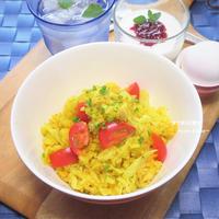 炊飯器に入れるだけ。夏バテでも食べやすい。『ツナ&キャベツカレーピラフ』