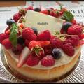 トリプルベリーのチーズケーキ