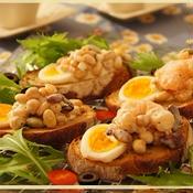 海老とお豆のタルティーヌ