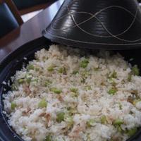 ☆タジン鍋で♪ さっぱり 枝豆とツナと生姜入りご飯 & ガリガリ君☆