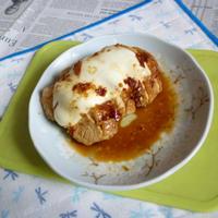味ぽんで作る鶏チャ+モッツァレラのタパス