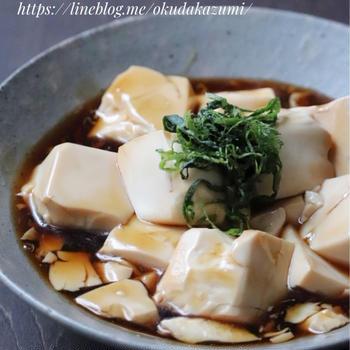 シンプルに美味しい!豆腐だけで満足【豆腐の甘辛とろみ煮】*好きなタイプ
