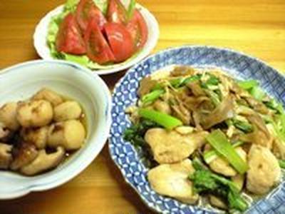 小松菜とザーサイ炒め