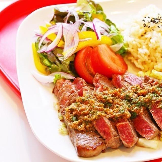 【姫ごはん☆美脚強化月間】食べたいものを食べながら美脚を作る~『牛肉のステーキ 梅ゴマソース』