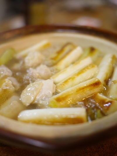 焼きネギの鶏塩鍋
