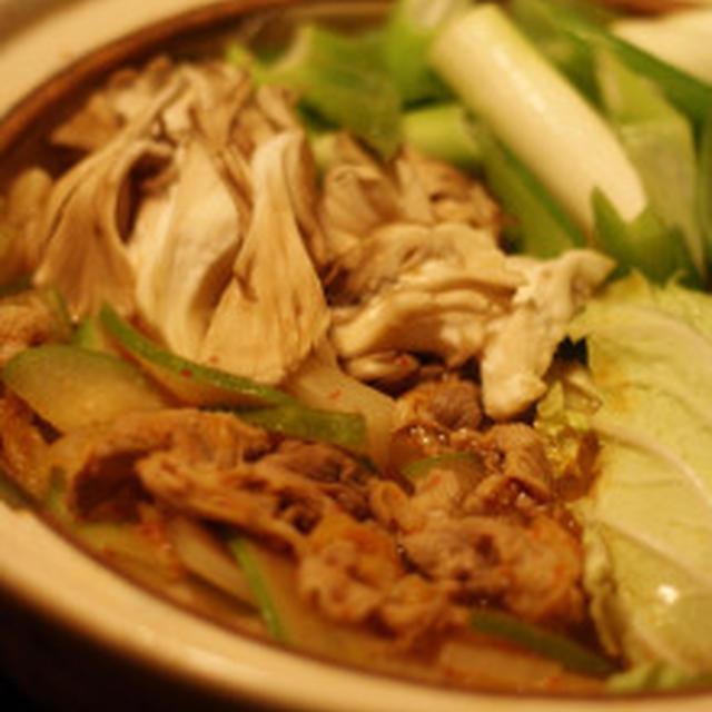冬瓜でキムチ鍋