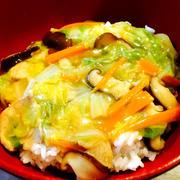 簡単★豚肉野菜のヘルシー餡掛け丼