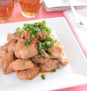 鶏もも肉のピリ辛☆酢醤油焼き 男性の胃袋をガッチリつかめるレシピ!