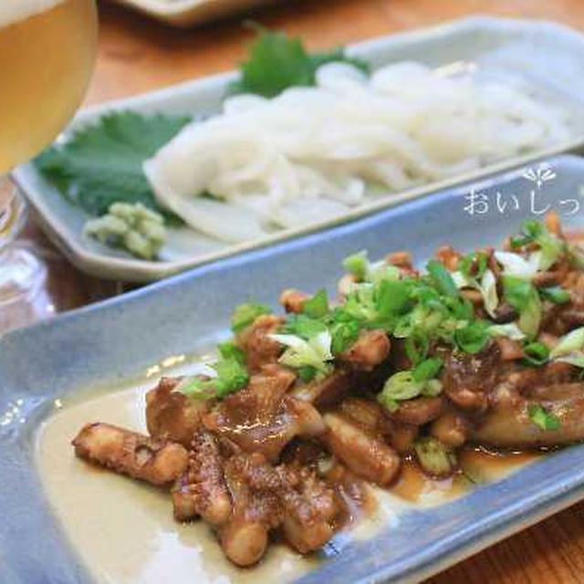 刺身用イカを食べきるワタとゲソのお味噌炒め