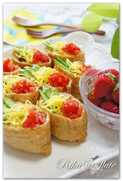 お花見のお弁当にも!お野菜たっぷり♪簡単いなり寿司