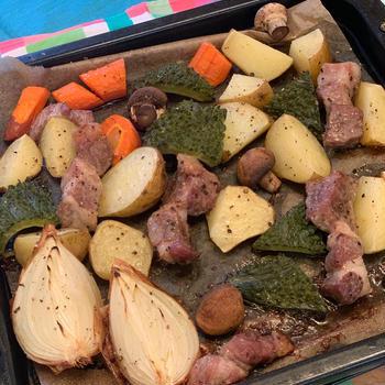 豚肉と野菜のグリル✨
