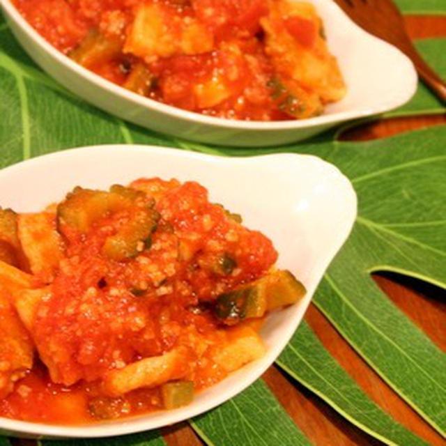 豚肉とゴーヤの塩麹トマト煮
