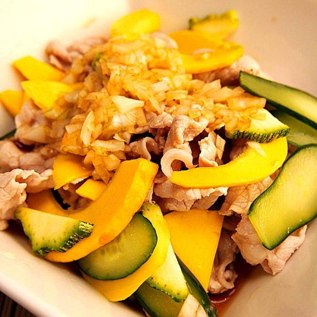 ウリと豚しゃぶのさっぱりサラダ 6月の野菜
