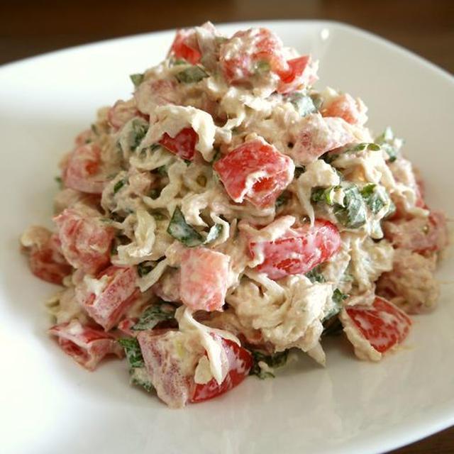 【簡単レシピ】切干大根の大葉とトマトのツナ和え♪
