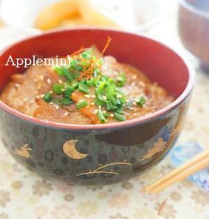自家製ダレの豚カルビ丼定食