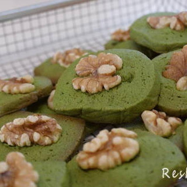 抹茶と胡桃のアイスボックスクッキーのレシピ