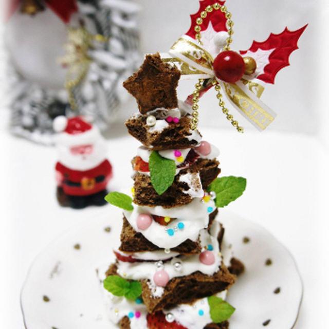 * クリスマスケーキ ❤ ツリーケーキ♪