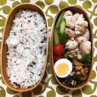 20180925鶏もも肉とアスパラ炒め弁当&予定外の産休入り