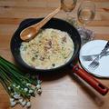 国産野菜のブイヨンで♪ ベーコンとふきのとうのクリームペンネ by masaさん