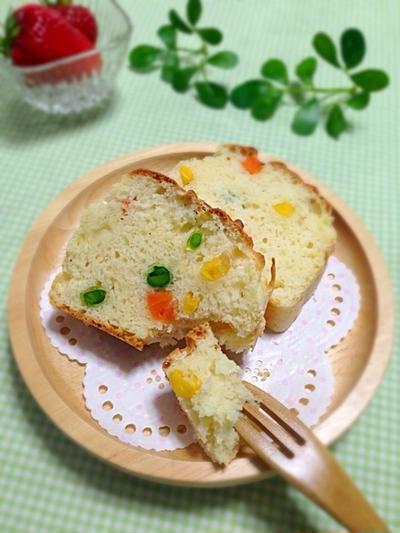 【レシピ】油・卵不使用!チーズ風味のお野菜ケークサレ