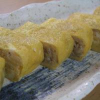 簡単アレンジ卵☆えのきのバター醤油卵巻き